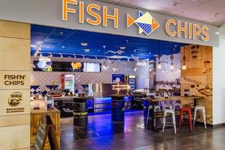 Фотофакт: в Dana Mall открылось кафе «Fish&Chips» c рыбным меню от 5 с половиной рублей