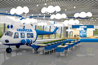 Кафе-вертолет открывают в минском аэрпорту