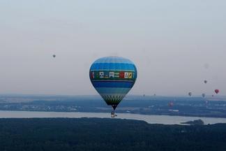 Фото- и видеофакт: как по Минску летали десятки воздушных шаров (в рамках соревнований по воздухоплаванию)
