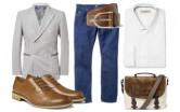 Модные луки: мужская полоска