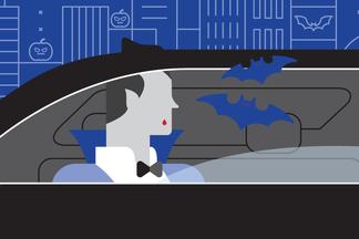 Специальная акция: вызвать Uber и получить угощение от Дракулы