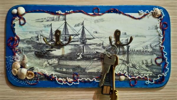 Ключница своими руками в морском стиле 31