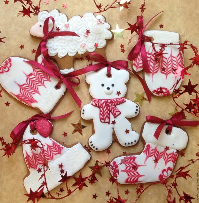 новогоднее имбирное печенье с глазурью рецепт с фото