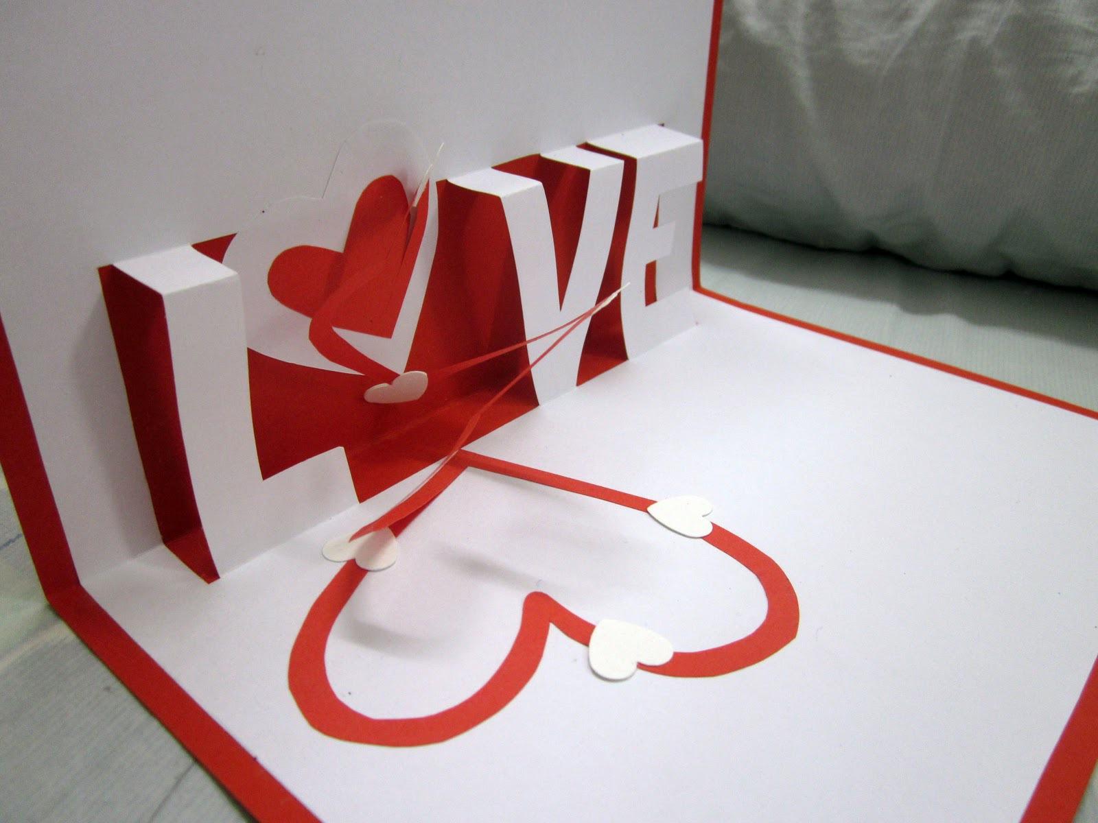 Как сделать открытку с днем святого валентина из бумаги