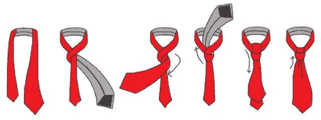 галстук завязать картинки