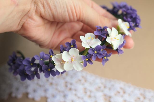 Ободки для волос с цветами своими руками фото 725