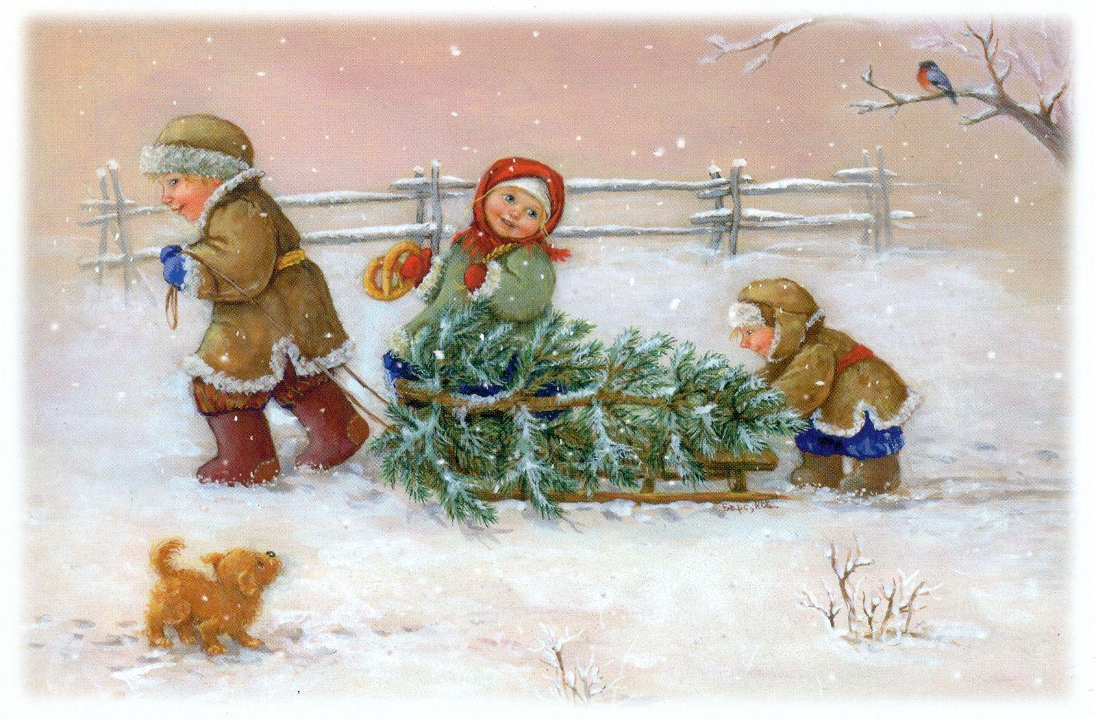 рождественские фото открытки