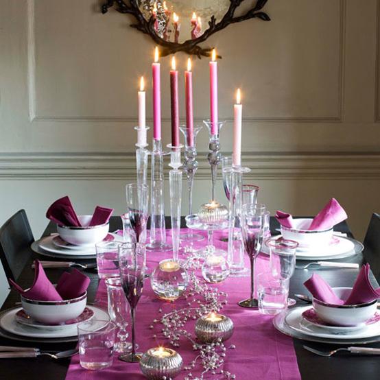 Сервировка праздничного новогоднего стола