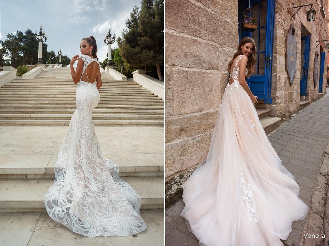 636404d438681df Облегающее фигуру свадебное платье Erin такое притягательное благодаря  воплощению в пудрово-бежевом оттенке с белоснежной кружевной отделкой.